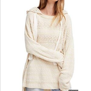 Free People Candy Crochet Hoodie S NWT